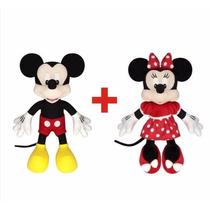 Mickey E Minnie De Pelúcia Licenciado Original Disney C/ Nf