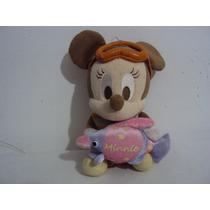 Boneca De Pelúcia Personagem Minnie Bebê Da Disney 21cm
