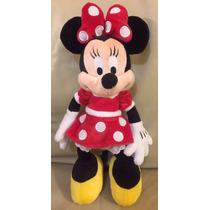 Pelúcia Minnie Mickey Disney Original Vestido Vermelho Laço