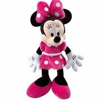 Boneco Pelúcia Minnie Ou Mickey Com Musica 34cm