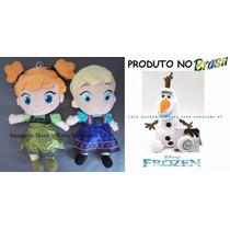 Kit 3 Pelúcias Frozen Ana E Elsa Baby + Olaf - Já No Brasil