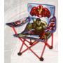 Cadeira Dobrável Para Menino Homem De Ferro Capitão América