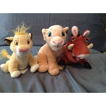 Nala Pumba E Simba Kit Com 3 Pelucias Rei Leão Disney Novas