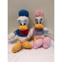 Pelucia Pato Donald E Margarida 30 Cm Originais Disney Store