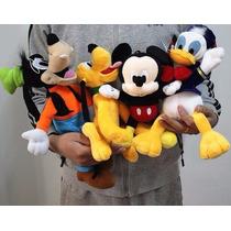 Kit Pelúcia Disney Mickey - Pateta - Pato Donald - Pluto