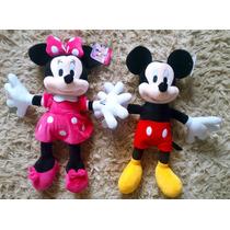 Kit Pelúcias Mickey E Minnie 50cm Grande! Frete Grátis!
