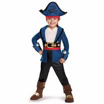 Fantasia Do Capitão Jake E Os Piratas Luxo Para 4 A 6 Anos