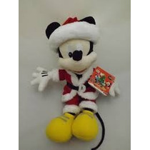 Pelúcia Mickey Papai Noel Natal Original Long Jump Disney