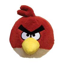 Pelúcia Angry Birds Vermelho Grande Sem Efeito Sonoro Rovio