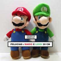 Kit Mario E Luigi Pelúcia Super Mario Bros 20 Cm - Nintendo