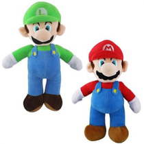 Pelúcia Super Mario - Mario E Luigi - 42 Cm - Nintendo