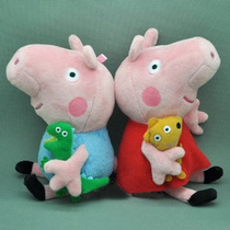 Peppa Pig E George Pig Boneco Pelúcia Pronta Entrega Novo