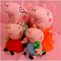 Peppa Pig Família (4 Pcs Pelúcia ) - Frete Grátis