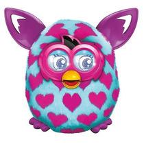 Pelúcia Furby Boom Azul Claro C/ Coração Rosa Fala Português