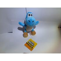Pelúcia Yoshi Azul - Mario Nintendo - 12 Cm