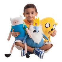 Boneco Com Fala Hora De Aventura Finn + Jake + Rei Gelado
