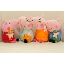 2 Famílias Da Peppa Pig Pepa George Papai - Pronta Entrega