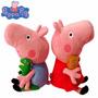 Peppa Pig Pelúcia Kit 2 Bonecos 25cm Pronta Entrega
