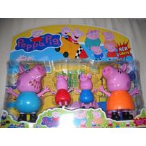 Família Boneca Peppa Pig Miniatura,importado Promoção