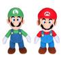 2 Bonecos Nintendo Super Mario + Luigi Pronta Entrega