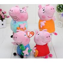 Familia Peppa Pig 4 Peças - Original Ty - Pronta Entrega!!!