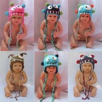 Touca Croche Monstros Monstrinhos Newborn - Monster