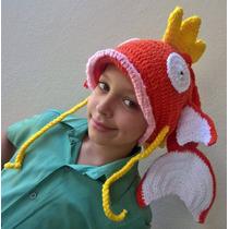 Touca Croche Magikarp Pokemon - Cosplay - Peixe Gorro