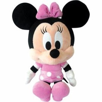 Pelúcia Disney Minnie Turma Do Mickey Baby Big Head Rosa