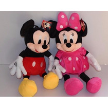 Pelúcia Mickey Mouse E Minnie 30 Cm Kit Com 2 Unidades !