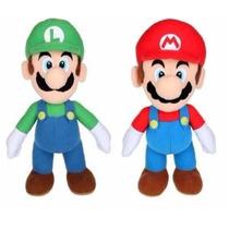 Lindas Pelúcias Mario E Luigi 20 Cms - Mario Bros - Nintendo