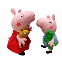 Peppa Pig E George Pelucias Bonecos Grande Pronta Entrega