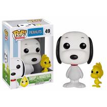 Pop Funko Peanuts Bonecos Snoopy E Woodstock