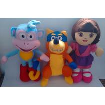 Turma Da Dora Aventureira 1 Botas - 1 Raposo - 1 Dora.