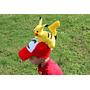 Touca Ash E Pikachu Pokemon Deluxe Croche Cosplay Bone Prop