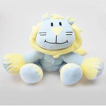 Boneco Pelúcia Baby Leão Azul Bebê Zip Toys