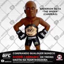 Boneco Ufc Collection Anderson Silva Cinturado Oficial