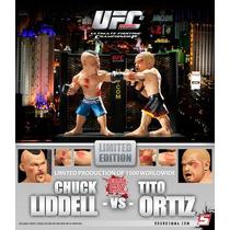 Tito Ortiz E Chuck Liddell Com Cage Display Round 5 Ufc Novo