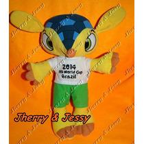Mascote Da Copa Fuleco - 40 Cm Pronta Entrega