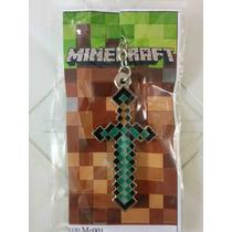 Minecraft - 1 X Chaveiro Espada De Diamanta