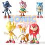 Sonic The Hedgehog - Box Com Seis (6) Figuras - Trademarks