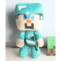 Boneco Steve Minecraft De Pelúcia Com Espada -pronta Entrega
