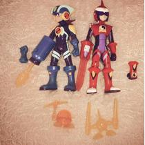 Actions Figures Megaman E Protoman Nt Warrior + Acessórios