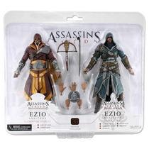 Assassins Creed - Caixa Com 2 Bonecos Ezio - Original Neca