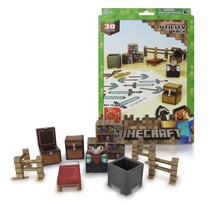 Minecraft Utility Pack 30pçs Paper Craft Blocos Montar Game