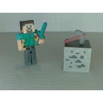 Steve Minecraft + Bloco + Picareta + Espada