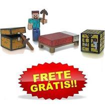 Minecraft Survival Pack Steve+ 5 Acessórios Nfe Frete Grátis