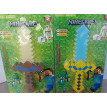 Espada Minecraft Brinquedo Com Som E Luz Led Pronta Entrega