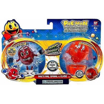 Kit Bonecos Pac Man Panic Spinners Bandai Pac Spiral E Clyde