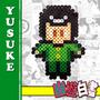 Yusuke Urameshi - Yu Yu Hakusho 8 Bits Pixel Art - Rj / Mãos