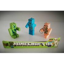 Minecraft Kit 12 Peças Chaveiro C/ Led E Som Frete Barato